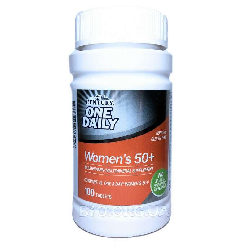 21 век Одна в день Мультивитаминны для женщин 50+ 100 таблеток фото товара