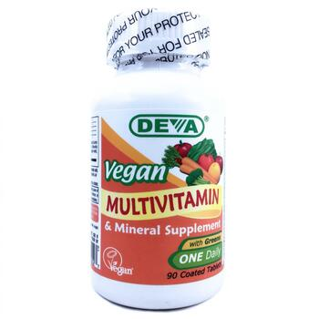 Купить Deva Vegan Multivitamin & Mineral Supplement 90 Tablets