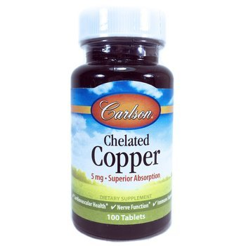 Купить Carlson Labs Chelated Copper 100 Tablets