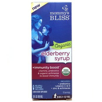 Купить Mommy's Bliss Organic Elderberry Syrup + Immunity Boost 90 ml