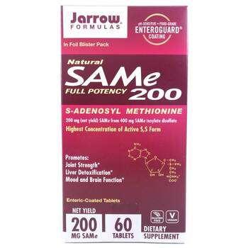 Купить Jarrow Formulas Natural SAM-e S-Adenosyl-L-Methionine 200 200 ...