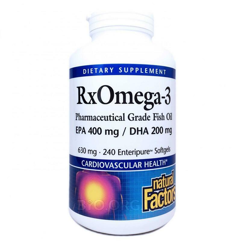 Нейчералс Факторс RxOмега 3 ЕПА 400 мг ДГЭА 200 мг 240 мягких ... фото товара