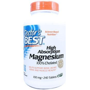 Купить Doctor's Best High Absorption Magnesium 100% Chelated 240 Tablets