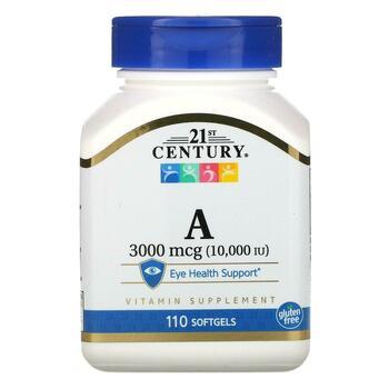 Купить Vitamin A 3000 mcg 10000 IU 110 Softgels