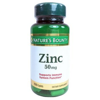 Купить Nature's Bounty Zinc 50 mg 100 Caplets
