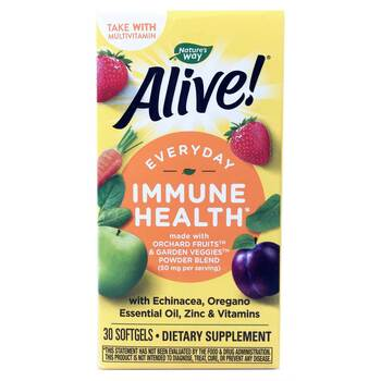 Купить Nature's Way Alive Everyday Immune Health 30 Softgels