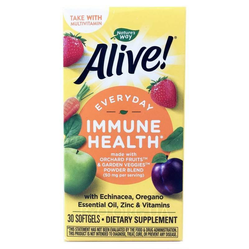 Alive Ежедневная иммунная защита 30 таблеток фото товара