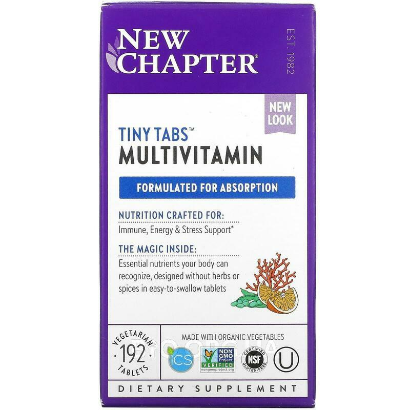 Multivitamin Tiny Tabs Whole Food Complexed Multivitamin 192 T... фото товара