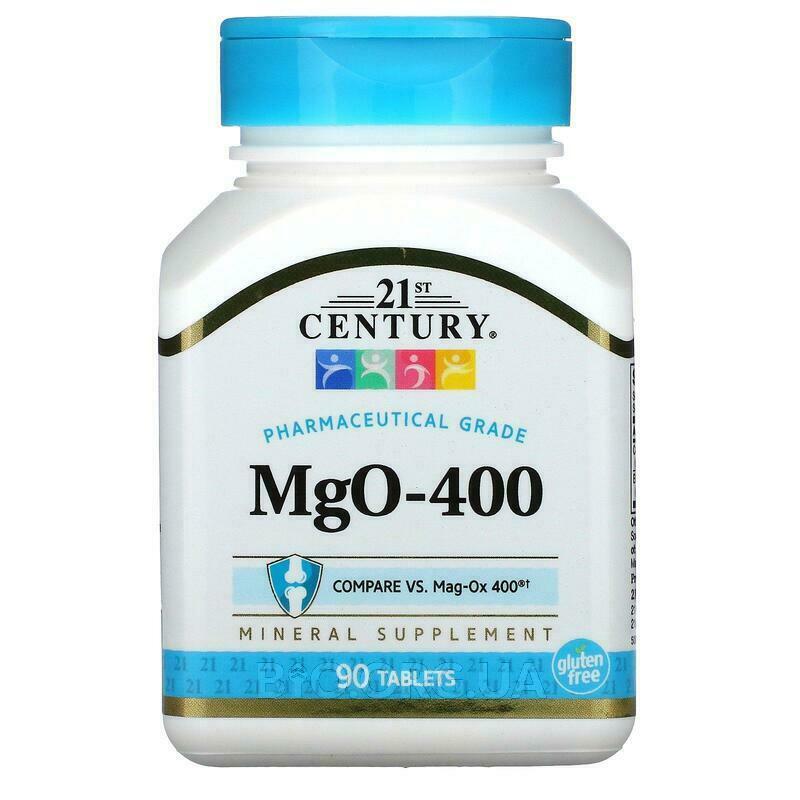 21 век МГО оксид магния 400 мг 90 таблеток фото товара