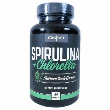 Купить Onnit Spirulina + Chlorella 80 Capsules