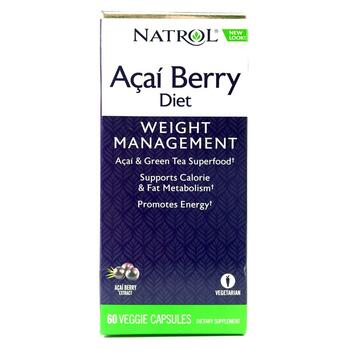 Купить Natrol AcaiBerry Diet Acai Green Tea Super Foods 60 Fast Capsules
