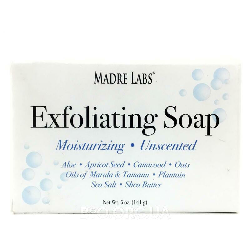 Madre Labs Exfoliating Soap Bar with Marula Tamanu Oils plus Shea Butter Unscented 141 g
