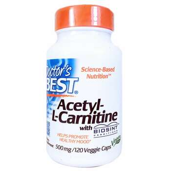 Купить Doctor's Best Acetyl-L-Carnitine with Biosint Carnitines 500 m...