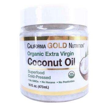 Купить Cold Pressed Virgin Coconut Oil 473 ml (Каліфорнія Голд Нутриш...