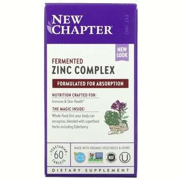 Купить New Chapter Fermended Zinc 15 mg Complex 60 Tablets
