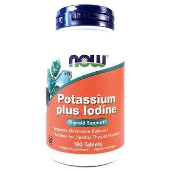 Купить Now Foods Potassium Plus Iodine 180 Tablets
