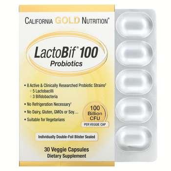 Купить California Gold Nutrition LactoBif Probiotics 100 Billion CFU ...