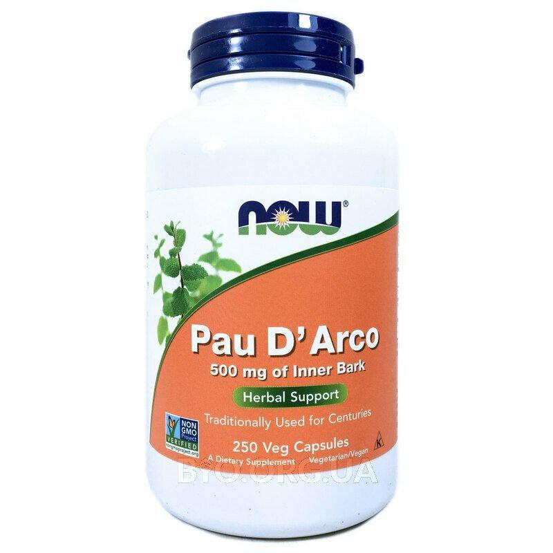 Пау Дарко 500 мг Кора муравьиного дерева 250 капсул фото товара