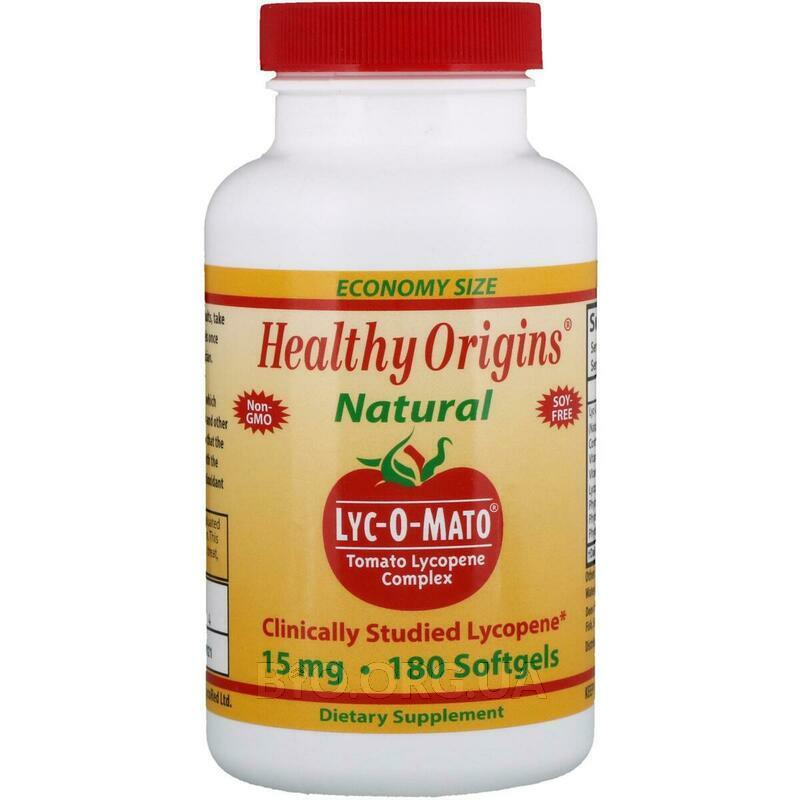 Lyc O Mato Tomato Lycopene Complex 15 mg 180 Softgels фото товара