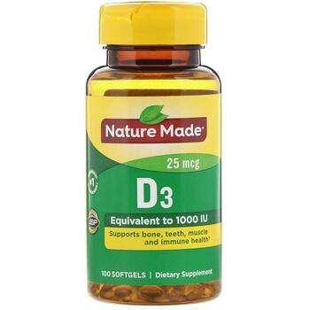 Купить Vitamin D3 1000 IU 90 + 10 Liquid Softgels