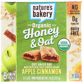Купить Nature's Bakery Apple Cinnamon Organic Honey & Oat Soft Baked ...