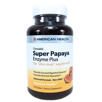 Купить American Health Super Papaya Enzyme Plus 180 Chewable Tablets