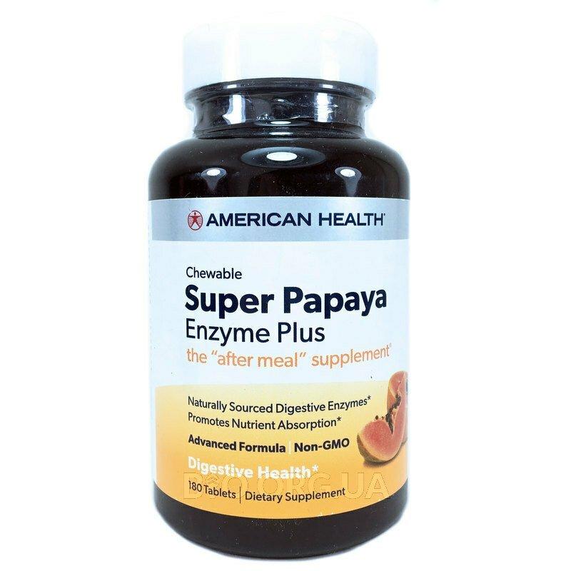 Супер Ферменты Папайи 180 жевательных таблеток фото товара