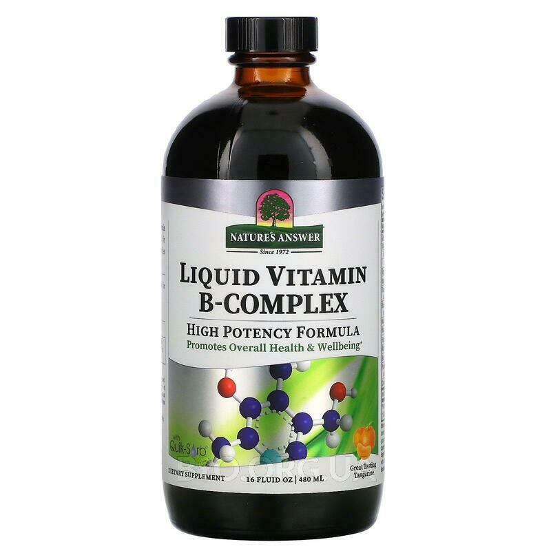 Нейчералс Ансвер Комплекс жидких витаминов группы В с натураль... фото товара