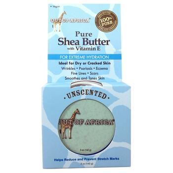 Купить Pure Shea Butter with Vitamin E Unscented 142 g