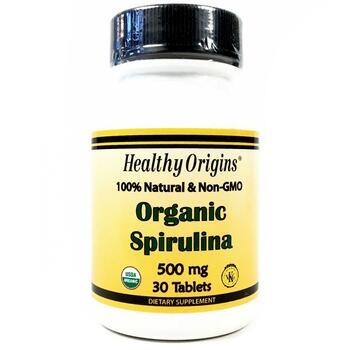 Купить Organic Spirulina 500 mg 30 tablets (Хелсі Оріджінс органічна ...