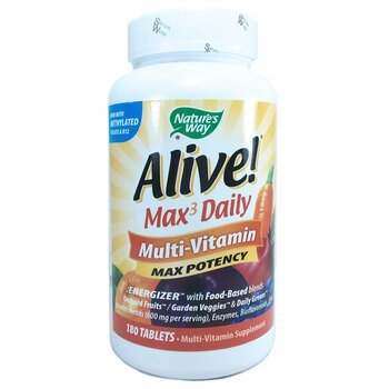Купить Nature's Way Alive Max3 Daily Multi Vitamin 180 Tablets