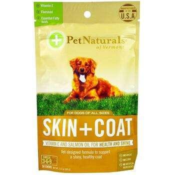 Купить Pet Naturals of Vermont Skin + Coat For Dogs 30 Chews 60 g