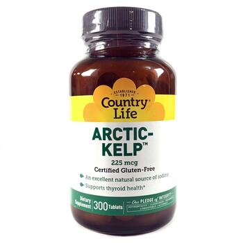Купить Country Life Arctic Kelp 225 mcg 300 Tablets
