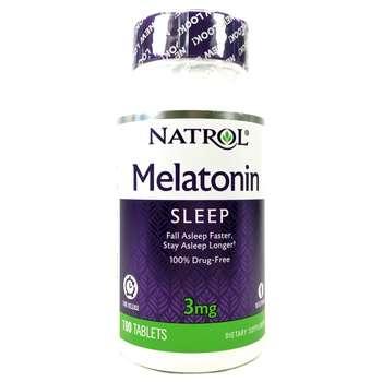 Купить Natrol Melatonin Time Release 3 mg 100 Tablets