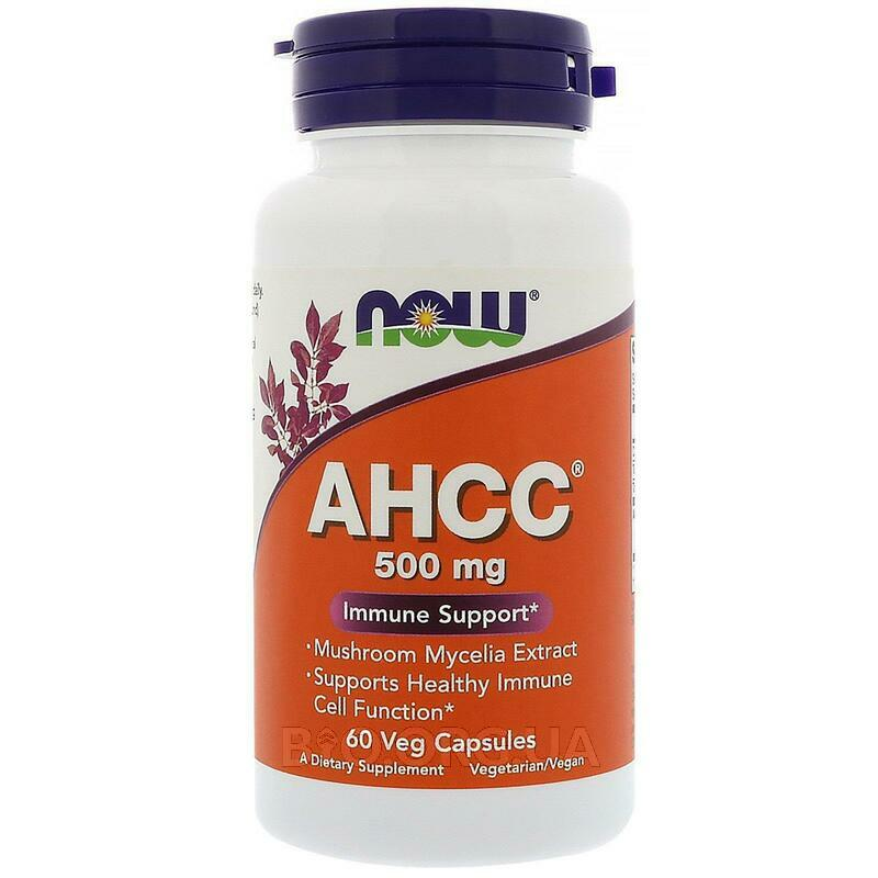 Now Foods AHCC Immune Support 500 mg 60 Vcaps