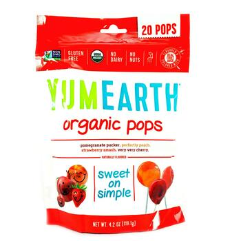 Купить Organic Pops Assorted Flavors 20 Pops 119 g (Юм Еарс органічні...