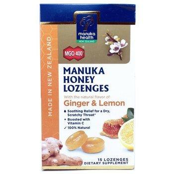 Купить Manuka Honey Lozenges MGO 400+ Ginger & Lemon 15 Lozenges (Пас...