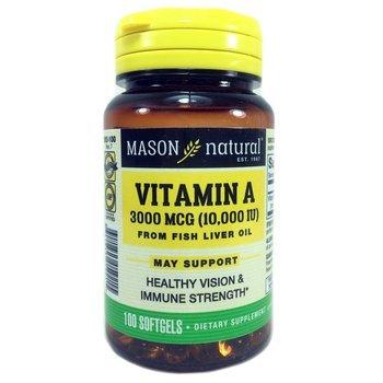 Купить Натуральный витамин А Мейсон 10000 МЕ 100 капсул
