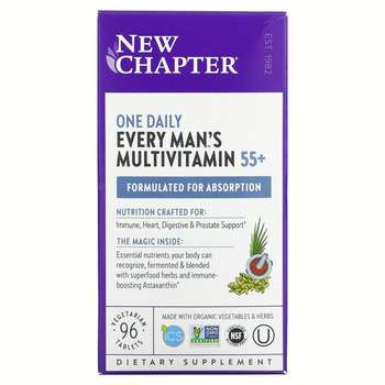 Купить New Chapter 55+ Every Man's One Daily Multi 96 Vegetarian Tablets