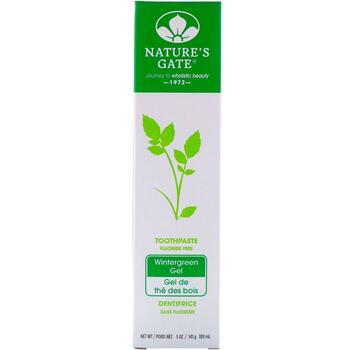 Купить Natures Gate Fluoride Free Toothpaste Wintergreen Gel 141 g (Н...
