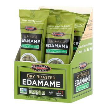 Купить Seapoint Farms Dry Roasted Edamame Spicy Wasabi 12 Packs 45 g ...
