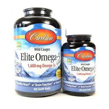Купить Wild Caught Elite Omega-3 Gems Natural Lemon Flavor 1600 mg 90...