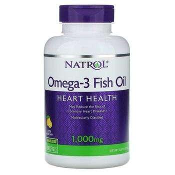 Купить Natrol Omega 3 Fish Oil Natural Lemon Flavor 1000 mg 150 Softgels