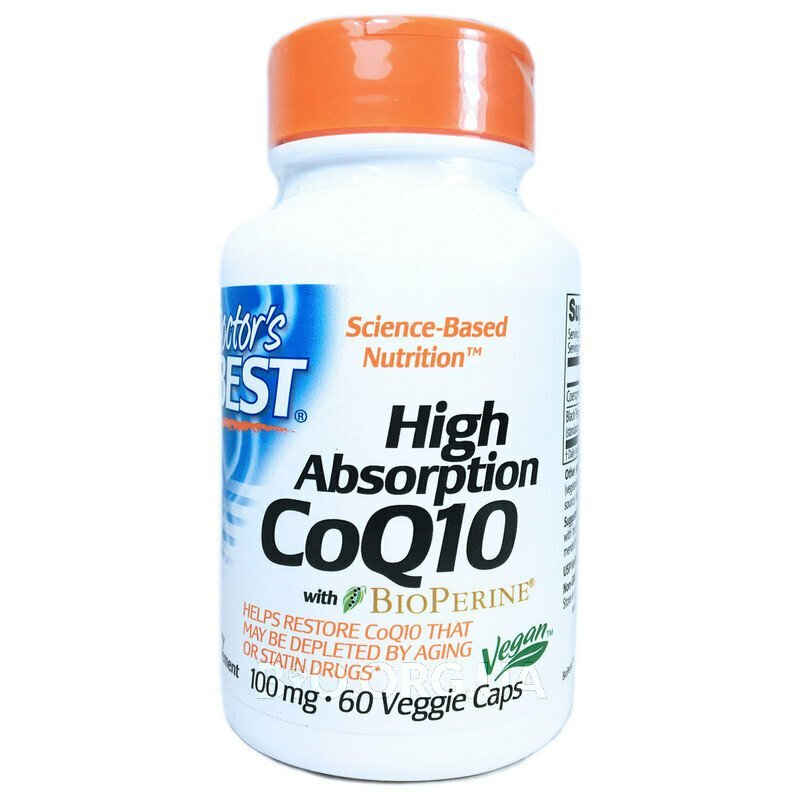Doctor's Best High Absorption CoQ10 100 mg 60 Veggie Caps