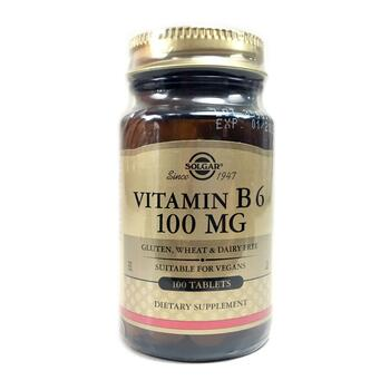 Купить Solgar Vitamin B6 100 mg 100 Tablets