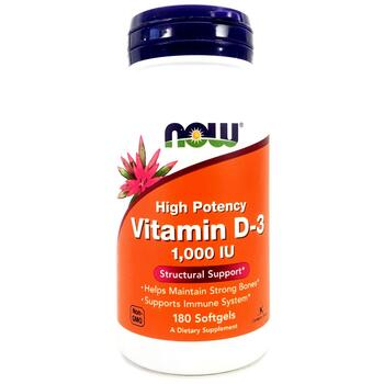 Купить Vitamin D 3 1000 IU 180 Softgels ( вітамін D 3 1000 МО 180 гел...