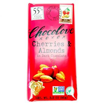Купить Chocolove Cherries Almonds in Dark Chocolate 90 g