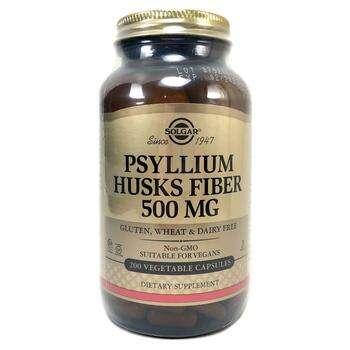 Купить Psyllium Husks Fiber 500 mg 200 Veggie Caps ( Лушпиння насіння...