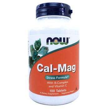 Купить Cal-Mag Stress Formula 100 Tablets (Кальцій і магній антистрес...