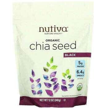 Купить Nutiva Organic Chia Seed Black 340 g